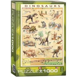 Puzzle 1000 piese Dinosaurs
