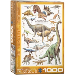 Puzzle 1000 piese Dinosaurs of the Jurassic Period