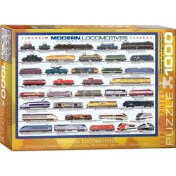 Puzzle 1000 piese Modern Locomotives