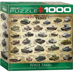 Puzzle 1000 piese WWII Tanks