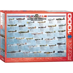 Puzzle 1000 piese Allied Air Command World War II Fighters