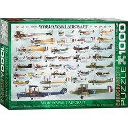 Puzzle 1000 piese World War I Aircraft