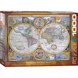Puzzle 1000 piese Antique World Map