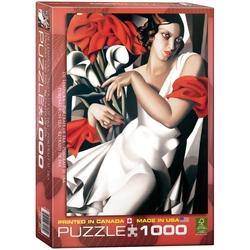 Puzzle 1000 piese Portrait of Ira-Tamara de Lempicka