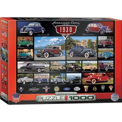 Puzzle 1000 piese American Cars of the 1930s
