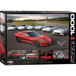 Puzzle 1000 piese 2014 Corvette Stingray It Runs in the Family