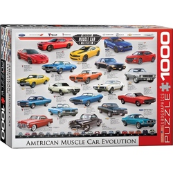 Puzzle 1000 piese American Muscle Car Evolution