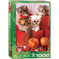 Puzzle 1000 piese Kittens in Pots