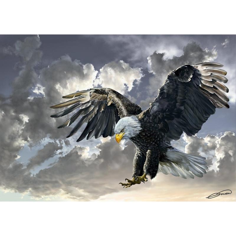 Puzzle 500 piese - Vultur - OWEN FRANCIS BELL
