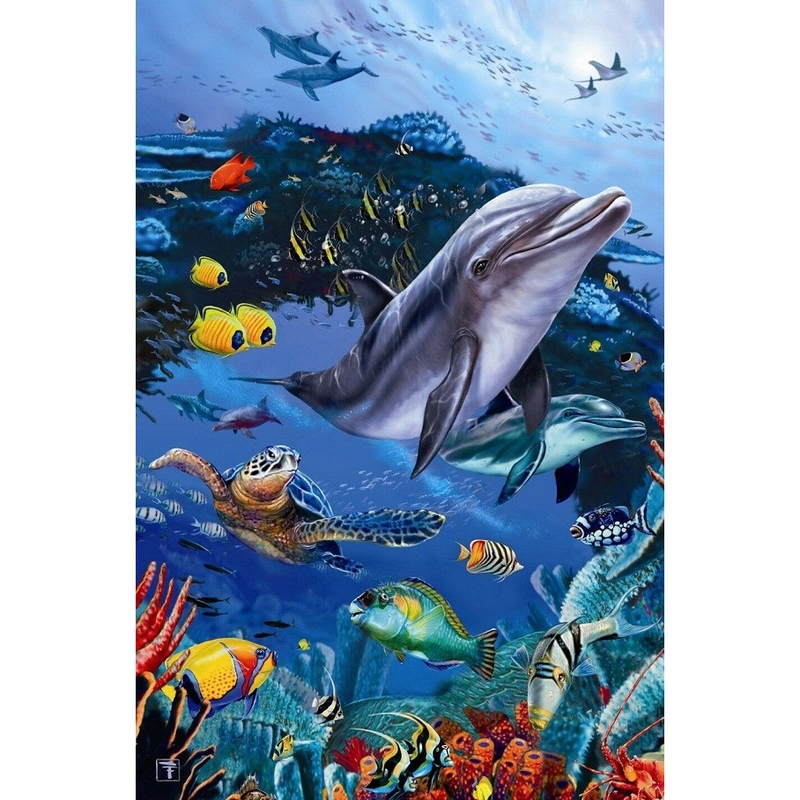 Puzzle holog. Delfin 500 piese