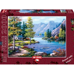 Puzzle 2000 piese Lakeside Lodge - SUNG KIM