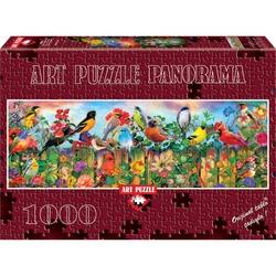 Puzzle 1000 piese Panoramic Spring Chickadees - AIMEE STEWART
