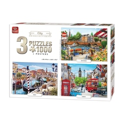 Puzzle 3x1000 piese City Collection