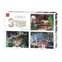 Puzzle 3x1000 piese Animal Collection (buc)