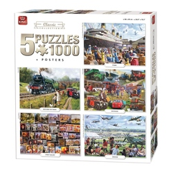 Puzzle 5x1000 piese Classic Collection (buc)