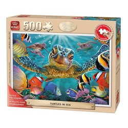 Puzzle 500 piese Turtles In The Sea (buc)