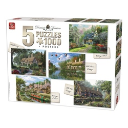 Puzzle 5x1000 piese Cottage