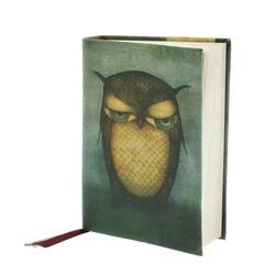 Agenda Eclectic cu coperti textil - Grumpy Owl