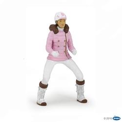 Femeie jocheu in costum de iarna - Figurina Papo
