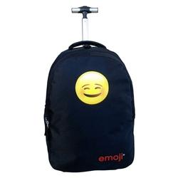 Ghiozdan cu troler Emoji Classic negru