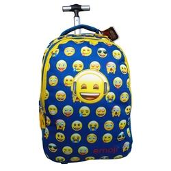 Ghiozdan cu troler Emoji bleu