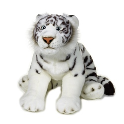 Jucarie din plus - Pui tigru alb 55 cm