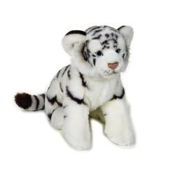 Jucarie din plus - Pui tigru alb mediu 30 cm