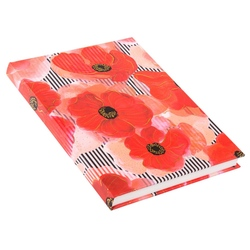 Agenda A5 embosata Poppy