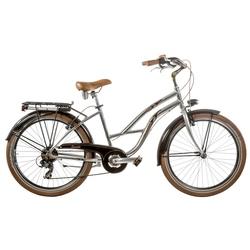 "Bicicleta Cruiser 26"" aluminiu femei 7V cromata roata H43"