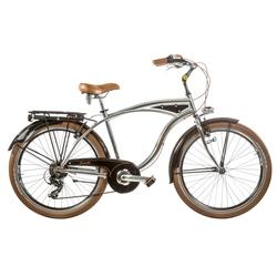 "Bicicleta Cruiser 26"" aluminiu barbati 7V cromata roata H46"