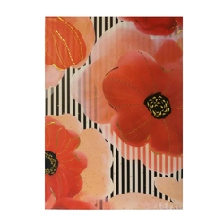 Agenda  A6 embosata Flower Red