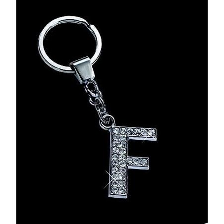 Breloc cristale litera F 10,2 cm