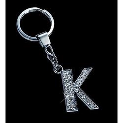Breloc cristale litera K 10,2 cm