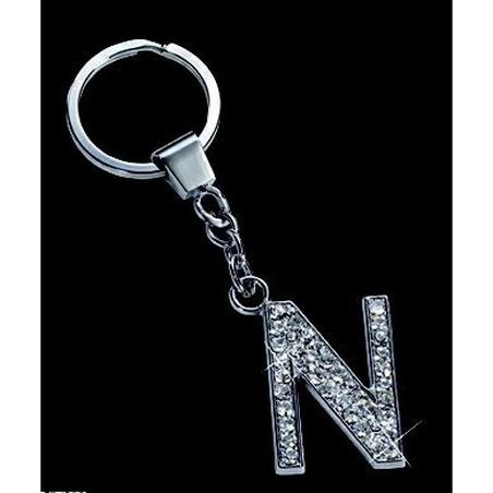 Breloc cristale litera M 10,2 cm
