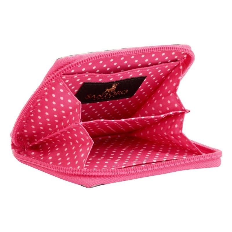 Gorjuss Stripes Portofel mic cu fermoar - Ladybird