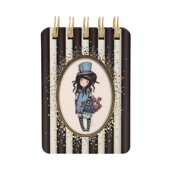 Gorjuss Stripes Carnet cu spira - The Hatter