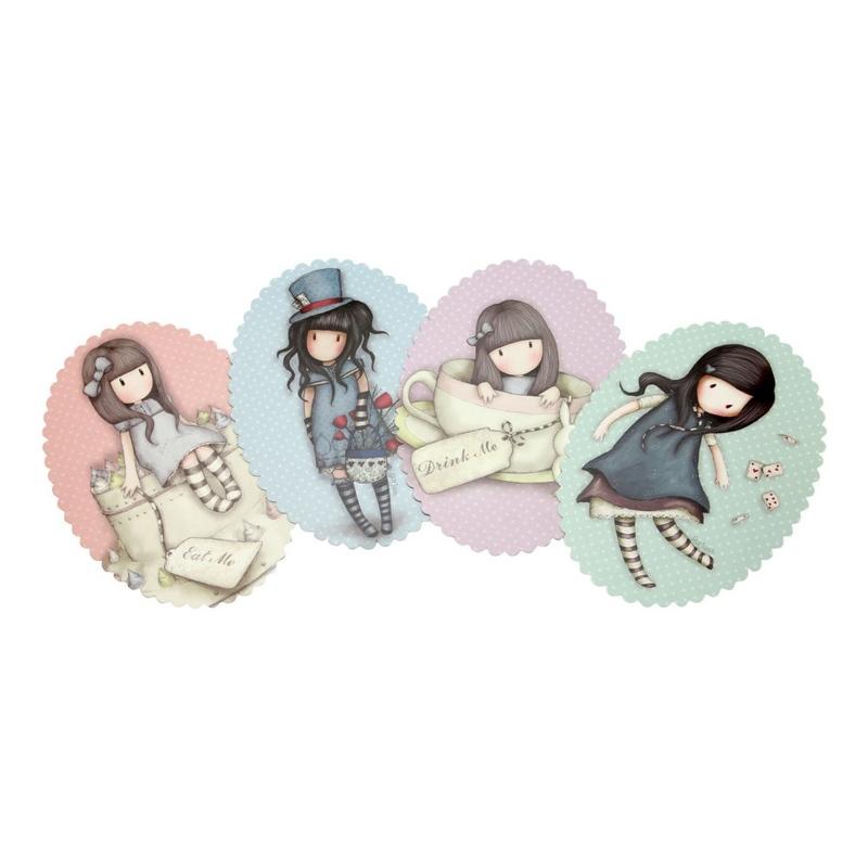 Gorjuss Set invitatii petrecere copii - Sweet Cake, The Hatter, Sweet Tea, Alice