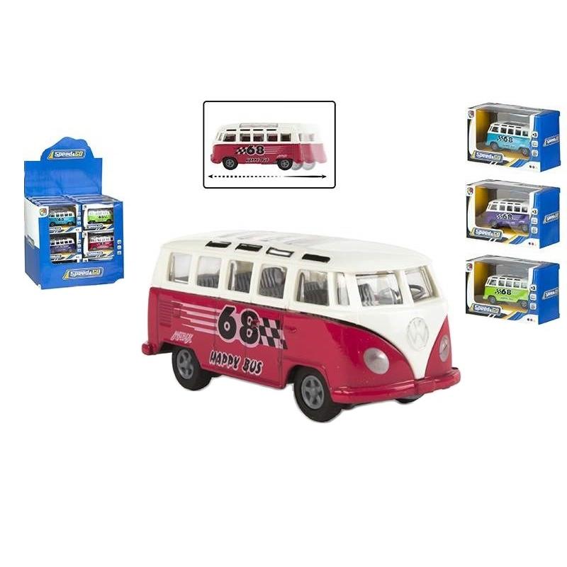 Microbuz VW diecast cu frictiune