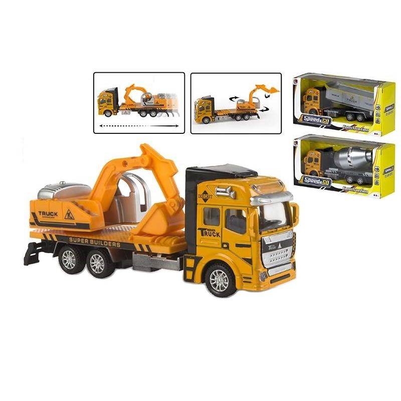 Camion de constructii diecast pull back