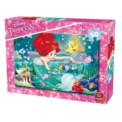 Puzzle 50 piese modele asortate Ariel/Beauty