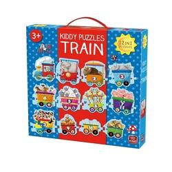 Puzzle mare 12 in 1 tren