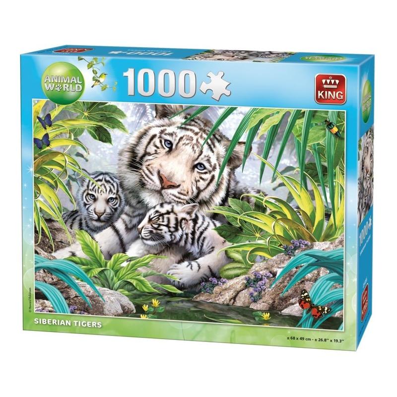 Puzzle 1000 piese Tigru Siberian