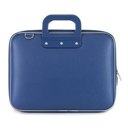 "Geanta lux business/laptop 13"" Medio Bombata-Albastru cobalt"