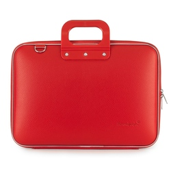 Geanta lux business laptop 15.6 in Clasic vinil Bombata-Rosu