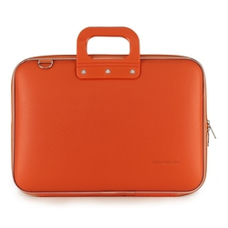 "Geanta lux business/laptop 15.6"" Clasic vinil Bombata-Portocaliu"