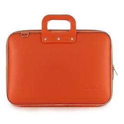 Geanta lux business laptop 15.6 in Clasic vinil Bombata-Portocaliu
