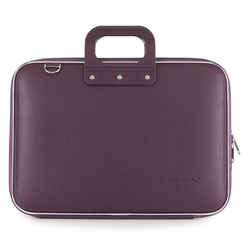 """Geanta lux business/laptop 15.6"""" Clasic vinil Bombata-Visiniu"""
