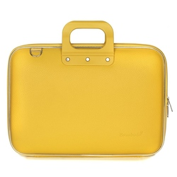 "Geanta lux business/laptop 15.6"" Clasic vinil Bombata-Mustar"