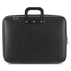 "Geanta lux business/laptop 17"" Maxi Bombata-Negru"