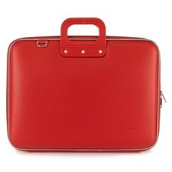 "Geanta lux business/laptop 17"" Maxi Bombata-Rosu"